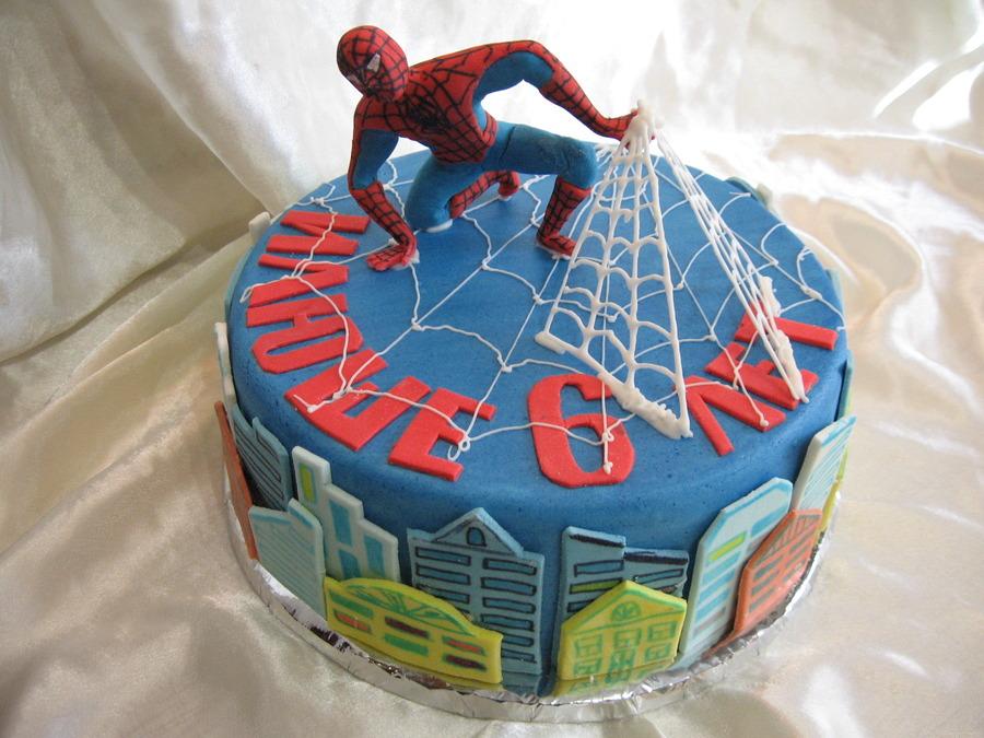 торт из мастики человек паук фото